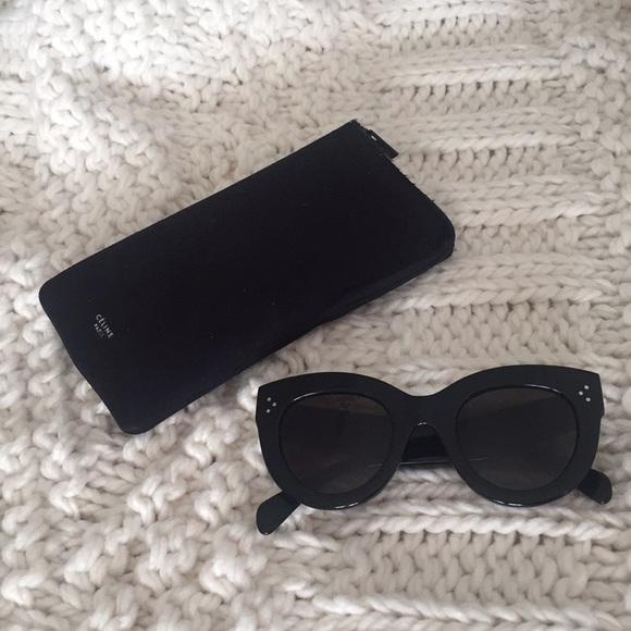 662589e3e56 Celine Accessories - Celine 41050 S Classic Cateye Sunglasses in Black